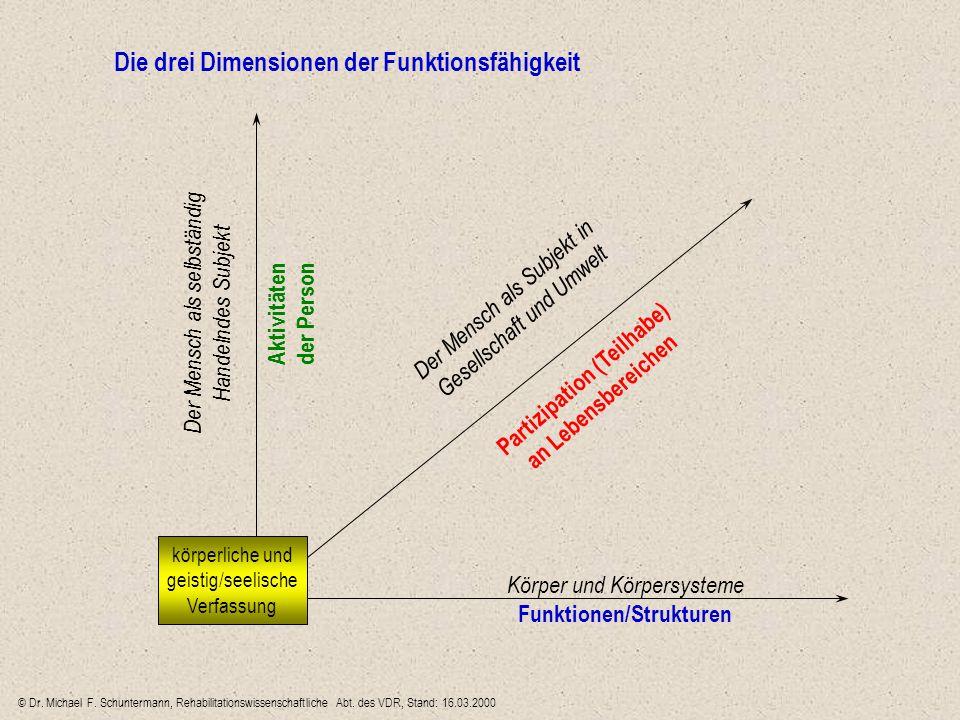 Partizipation (Teilhabe) Funktionen/Strukturen