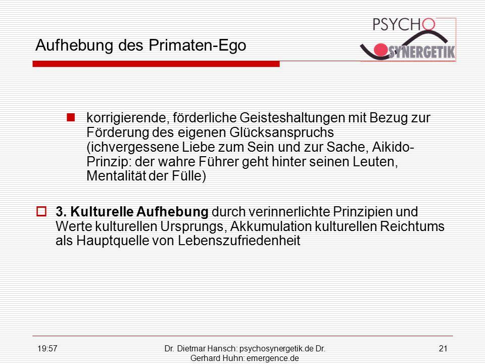 Aufhebung des Primaten-Ego