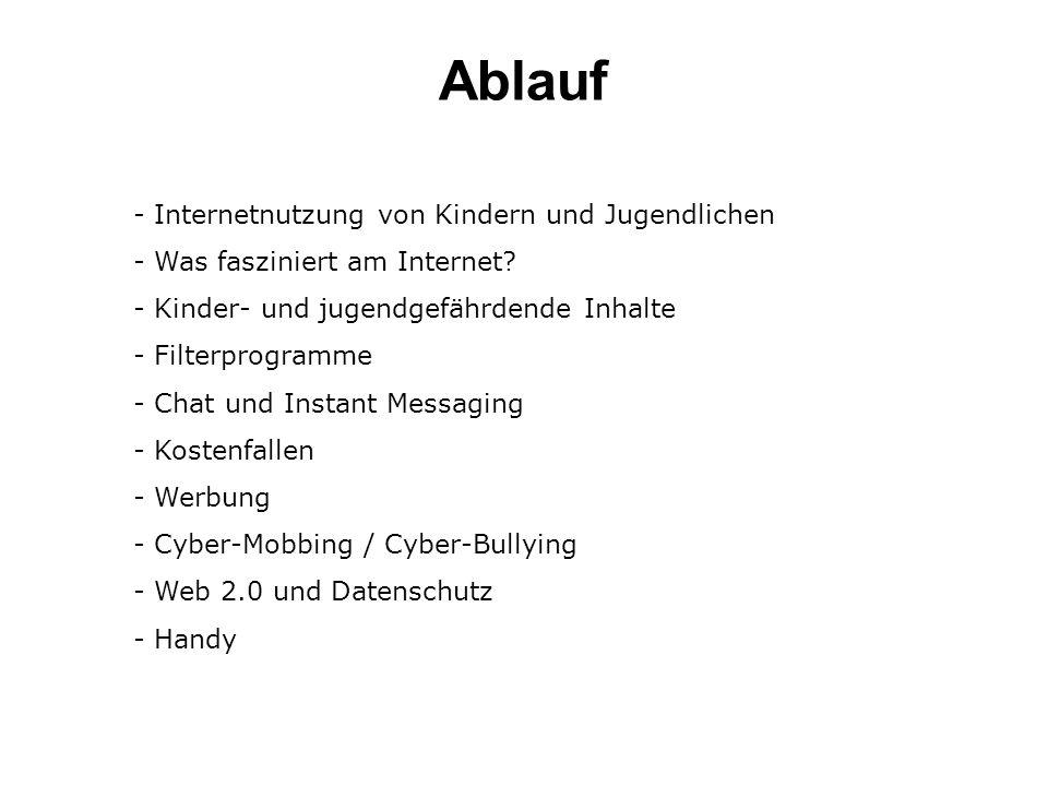 Ablauf Internetnutzung von Kindern und Jugendlichen