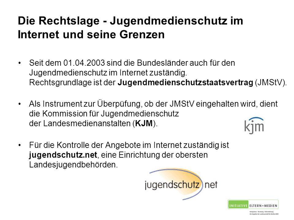 Die Rechtslage - Jugendmedienschutz im Internet und seine Grenzen