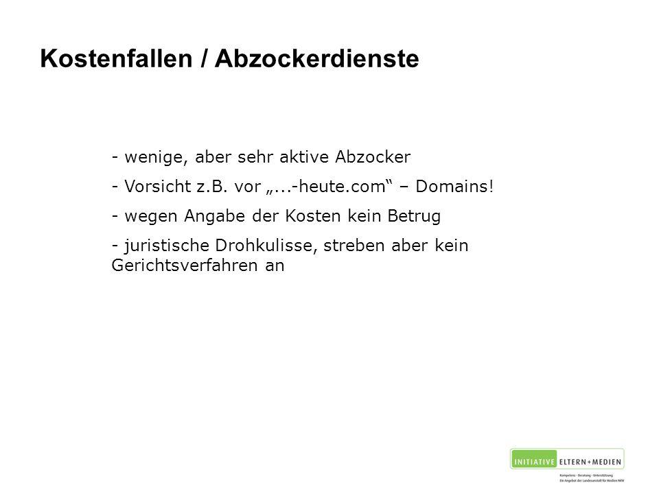 Kostenfallen / Abzockerdienste