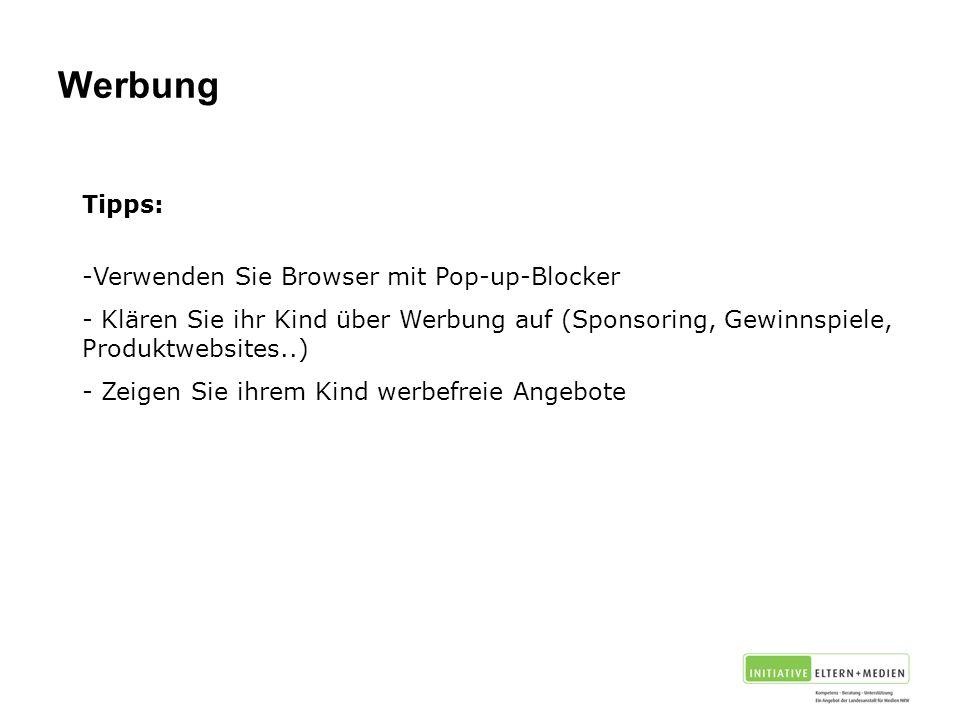 Werbung Tipps: Verwenden Sie Browser mit Pop-up-Blocker