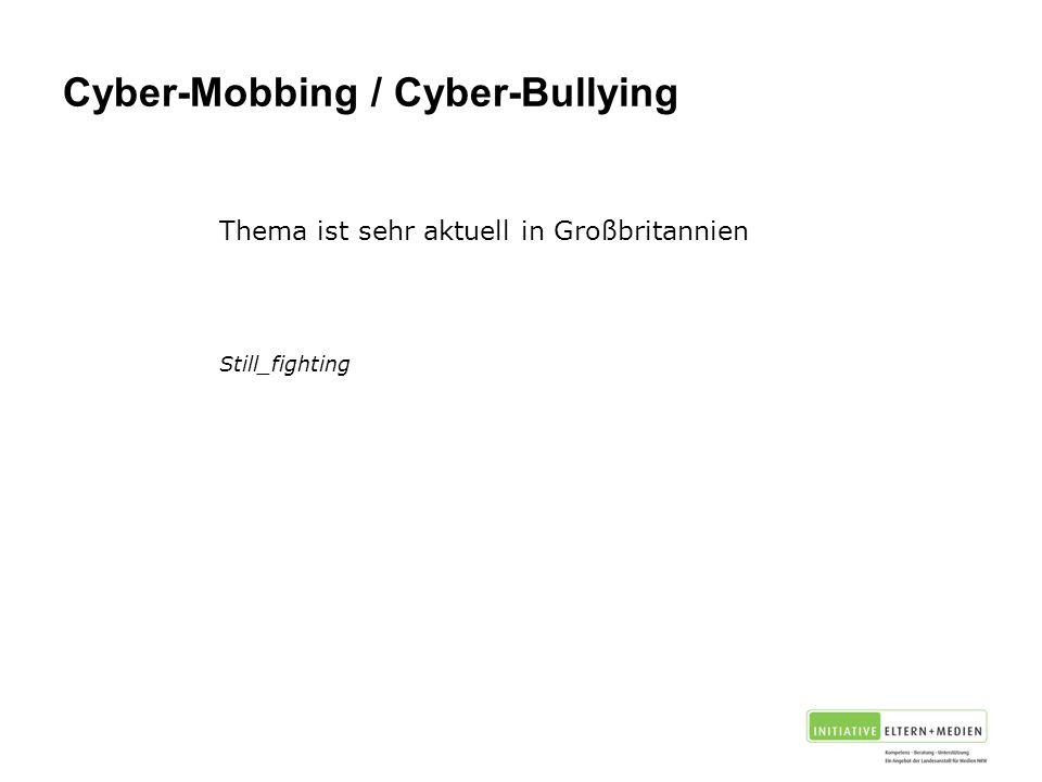 Cyber-Mobbing / Cyber-Bullying