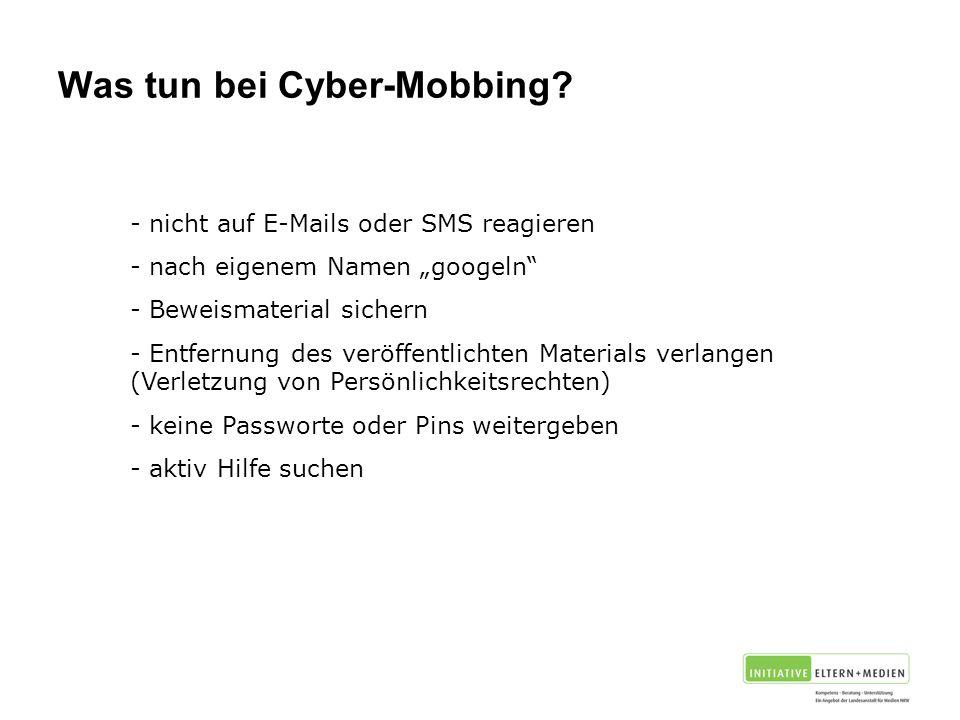 Was tun bei Cyber-Mobbing