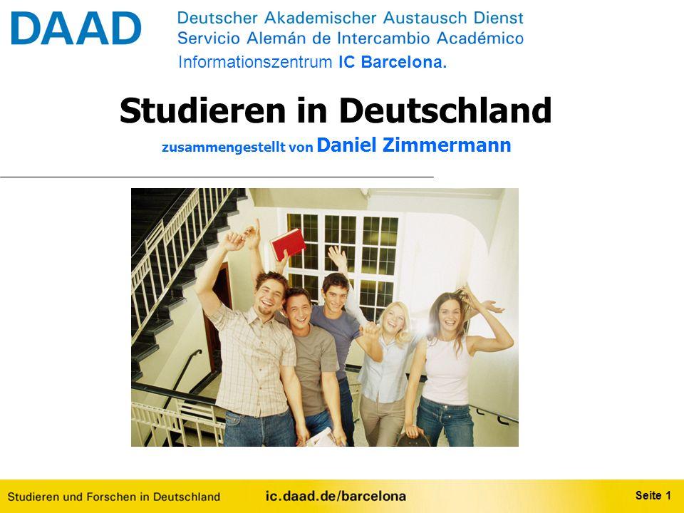Studieren in Deutschland zusammengestellt von Daniel Zimmermann