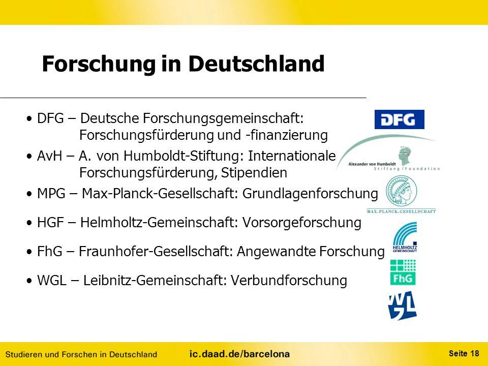 Forschung in Deutschland