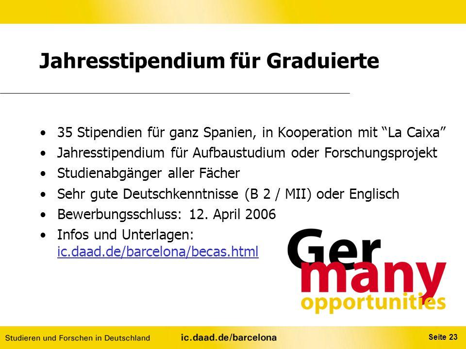 Jahresstipendium für Graduierte