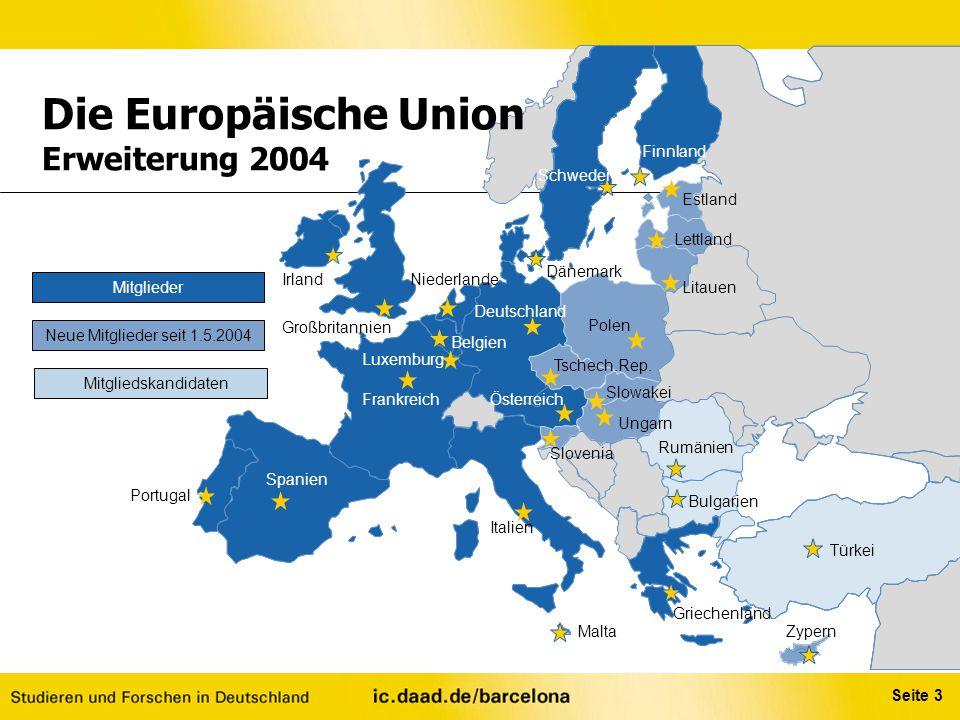 Die Europäische Union Erweiterung 2004