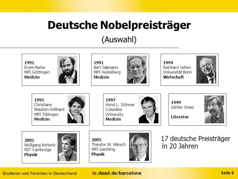 Deutsche Nobelpreisträger (Auswahl)