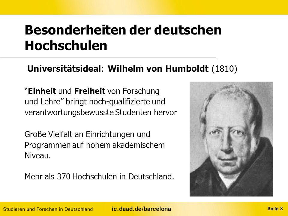 Besonderheiten der deutschen Hochschulen