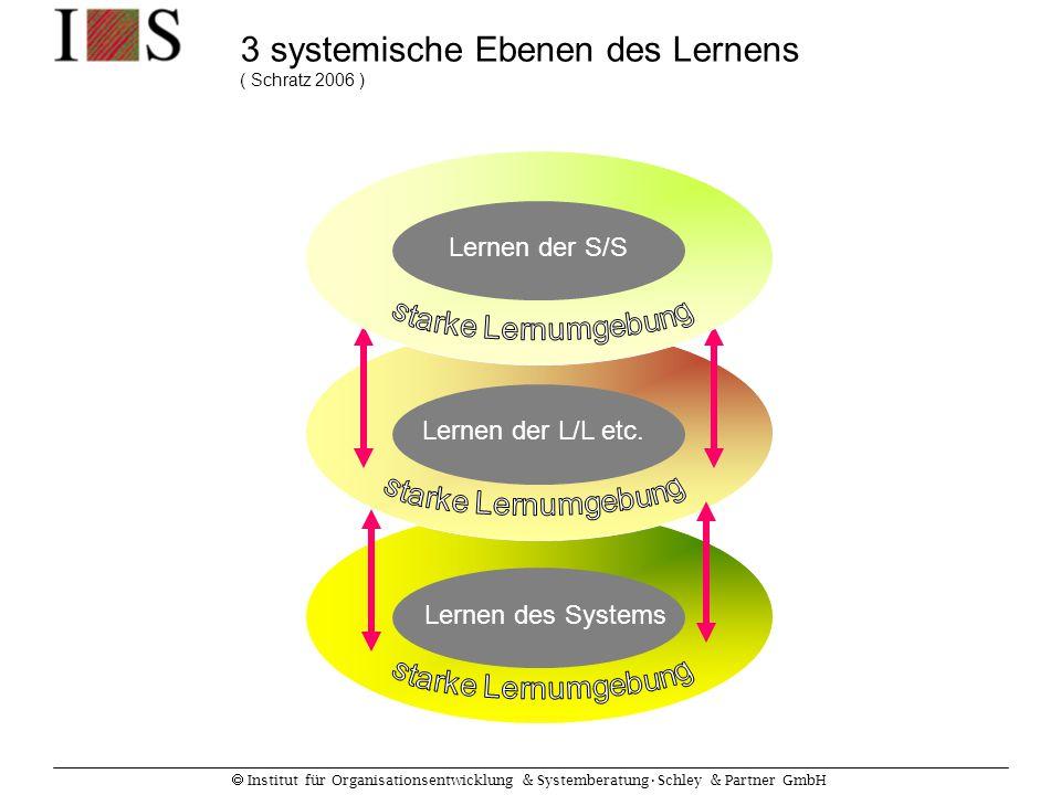 3 systemische Ebenen des Lernens