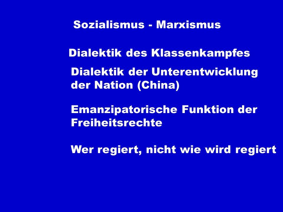 Sozialismus - Marxismus