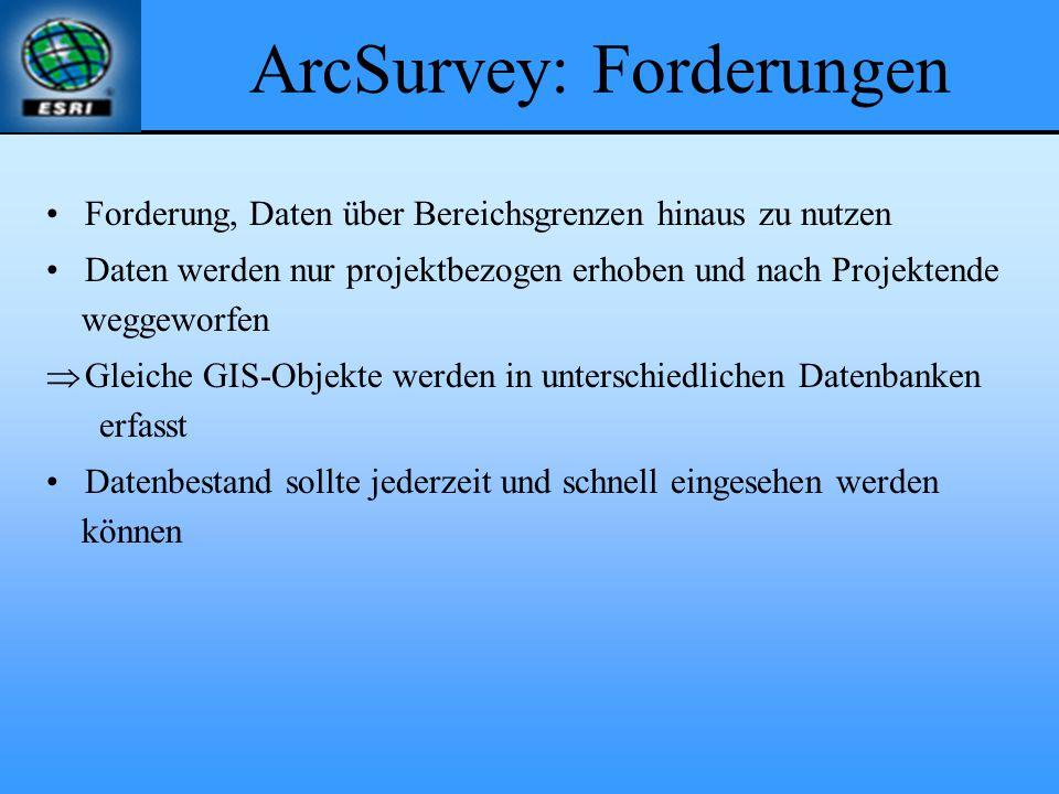 ArcSurvey: Forderungen
