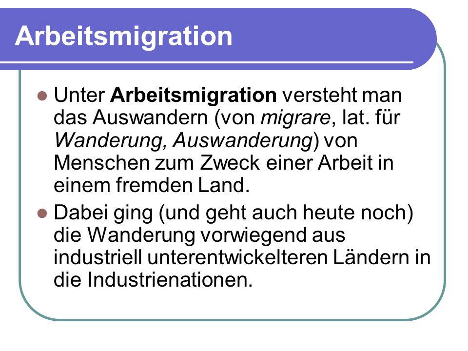 Arbeitsmigration