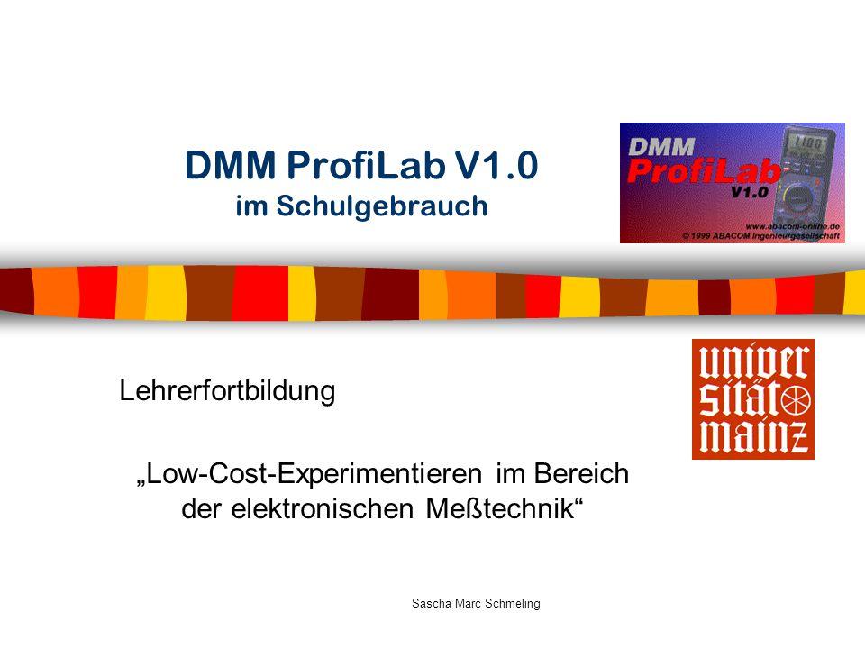 DMM ProfiLab V1.0 im Schulgebrauch