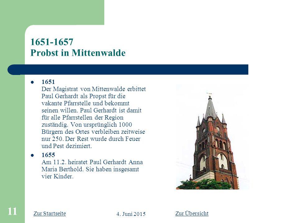 1651-1657 Probst in Mittenwalde