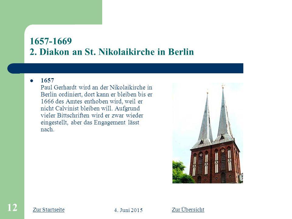 1657-1669 2. Diakon an St. Nikolaikirche in Berlin