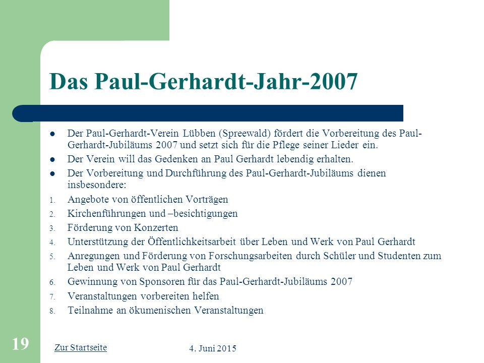 Das Paul-Gerhardt-Jahr-2007