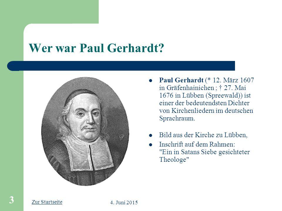 Wer war Paul Gerhardt