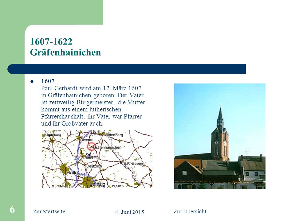 1607-1622 Gräfenhainichen
