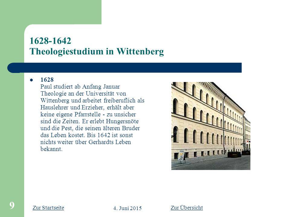 1628-1642 Theologiestudium in Wittenberg