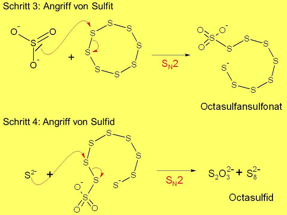 Schritt 3: Angriff von Sulfit