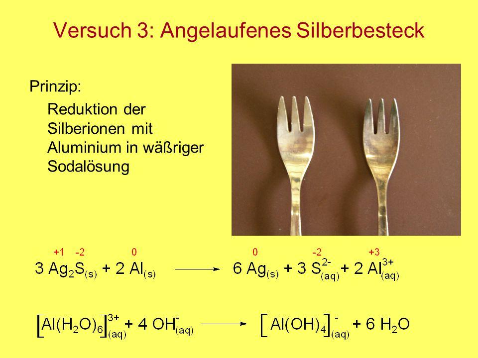 Versuch 3: Angelaufenes Silberbesteck