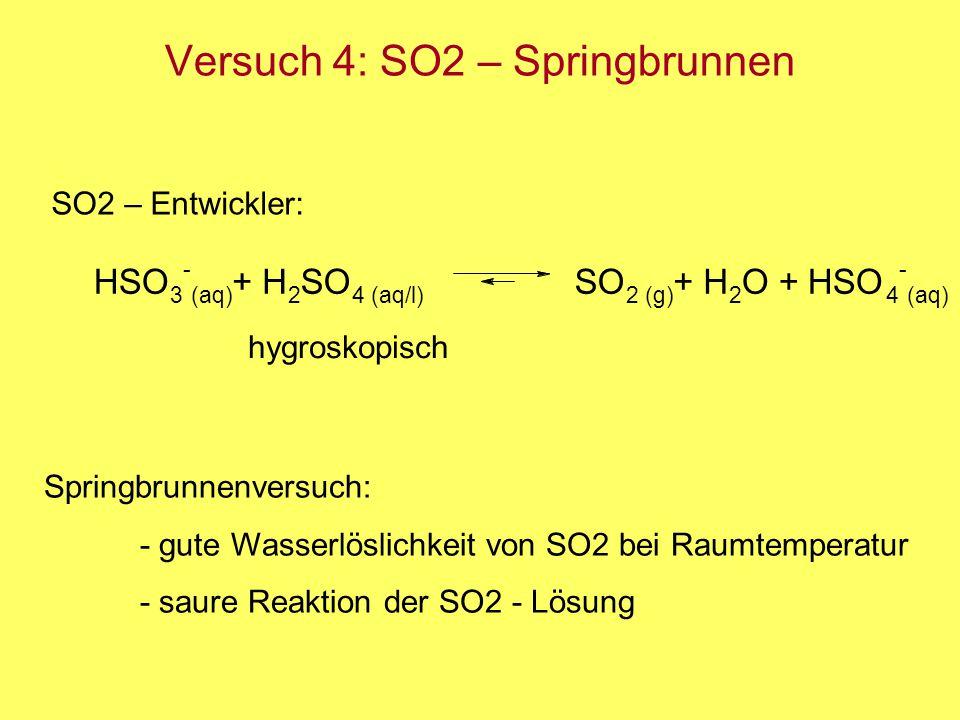 Versuch 4: SO2 – Springbrunnen