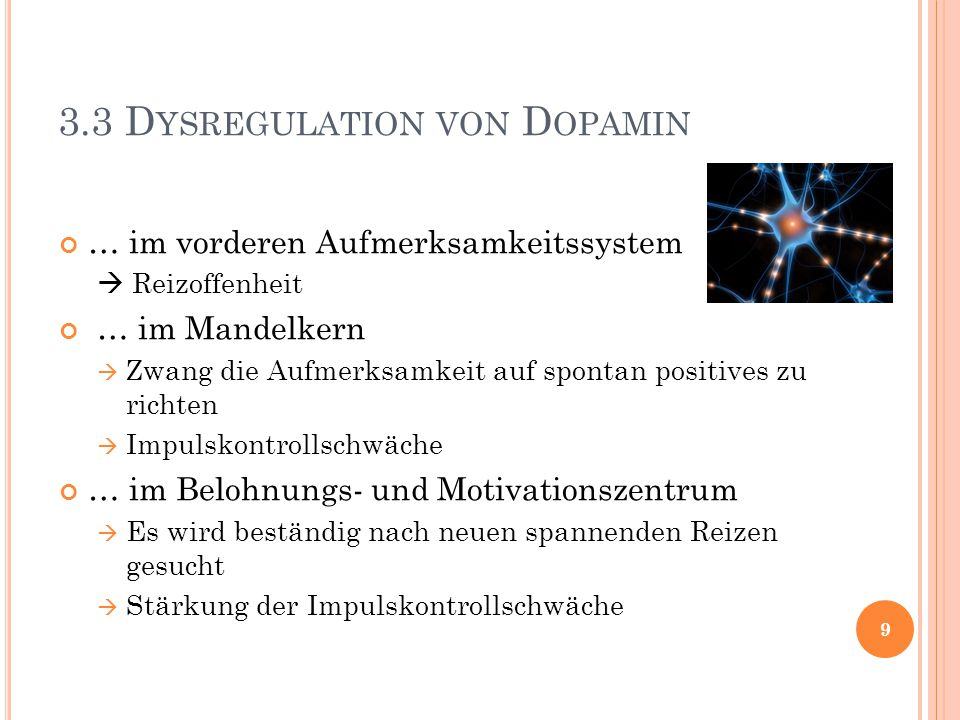 3.3 Dysregulation von Dopamin