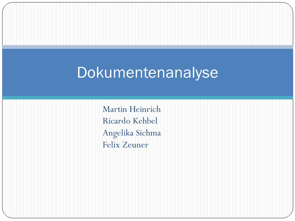 Martin Heinrich Ricardo Kehbel Angelika Sichma Felix Zeuner