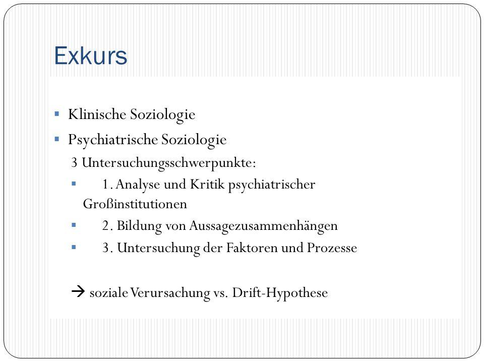 Exkurs Klinische Soziologie Psychiatrische Soziologie