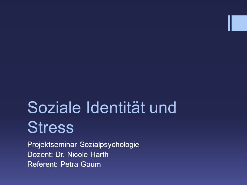 Soziale Identität und Stress
