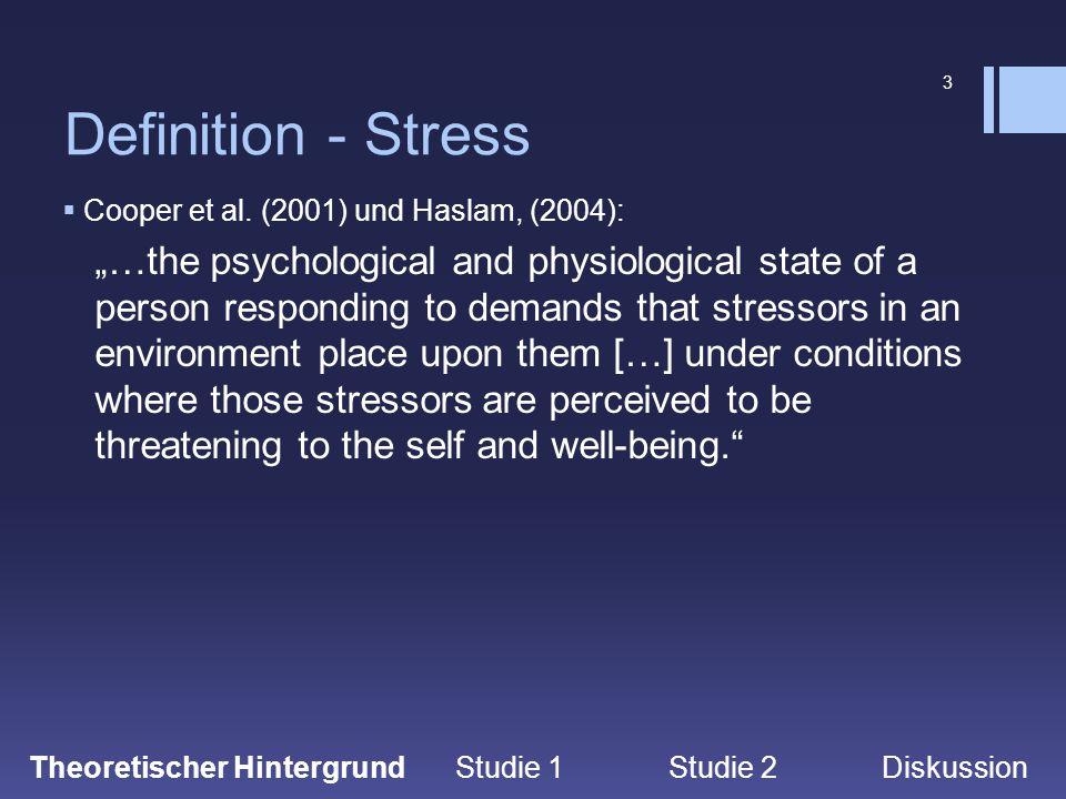 Theoretischer Hintergrund Studie 1 Studie 2 Diskussion