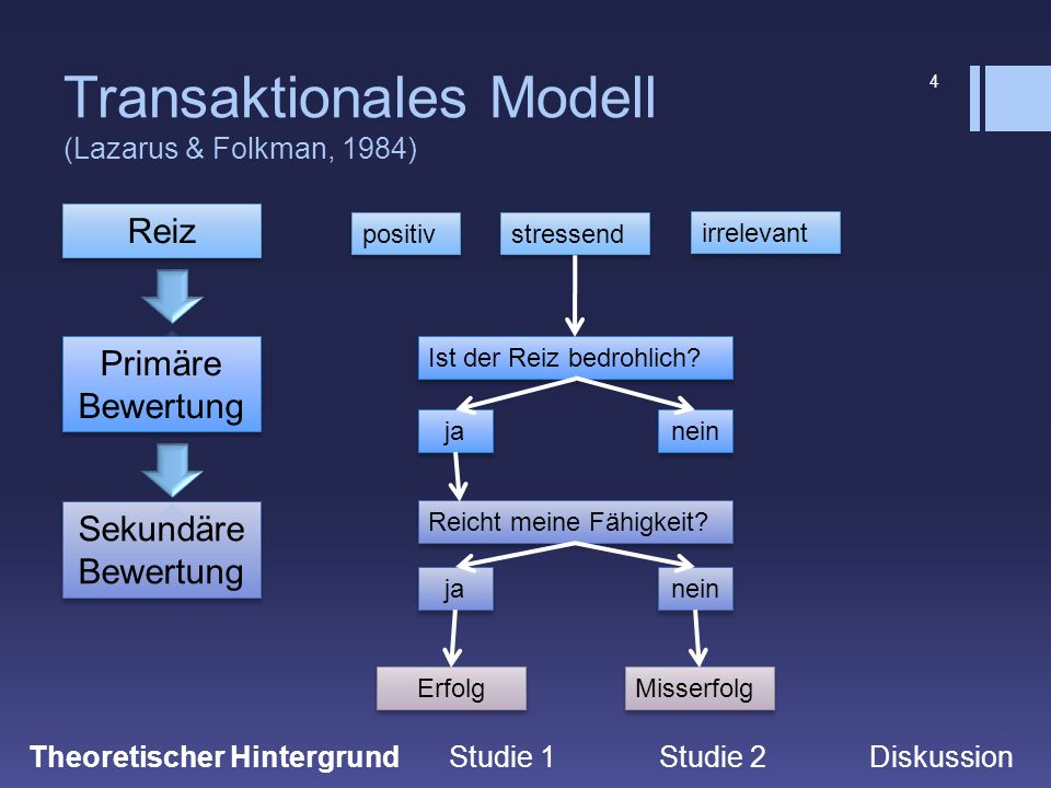 Transaktionales Modell (Lazarus & Folkman, 1984)