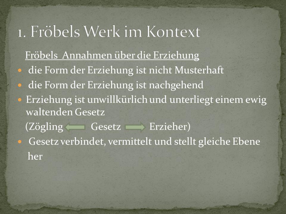 1. Fröbels Werk im Kontext