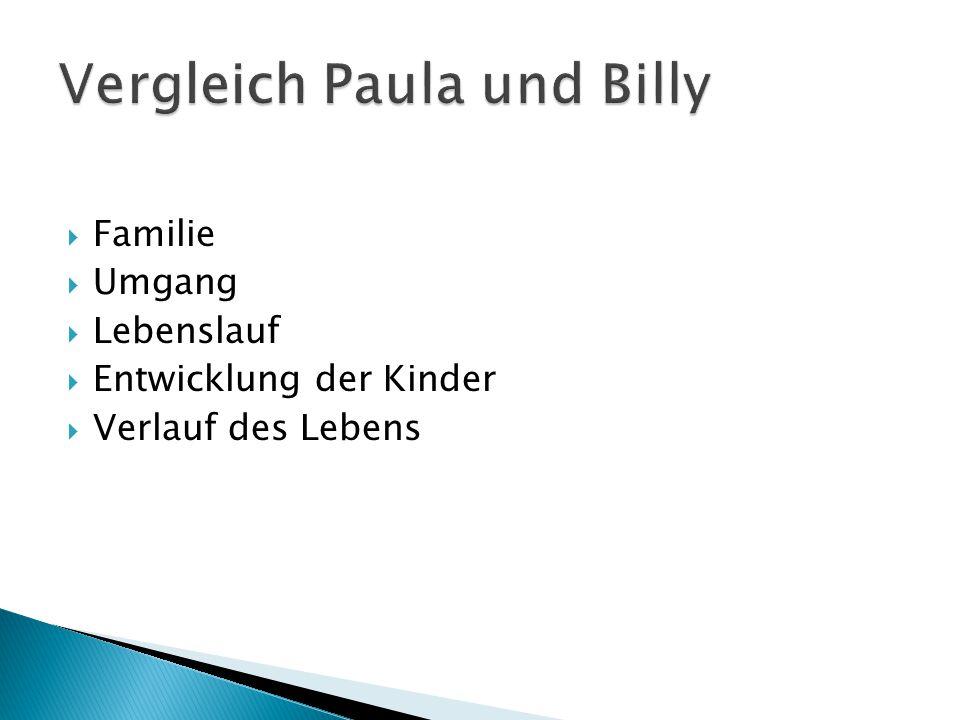 Vergleich Paula und Billy