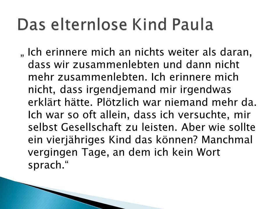 Das elternlose Kind Paula