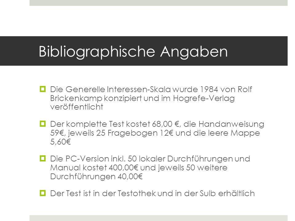 Bibliographische Angaben