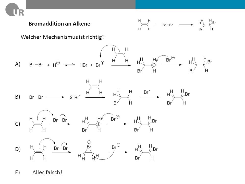 Bromaddition an Alkene
