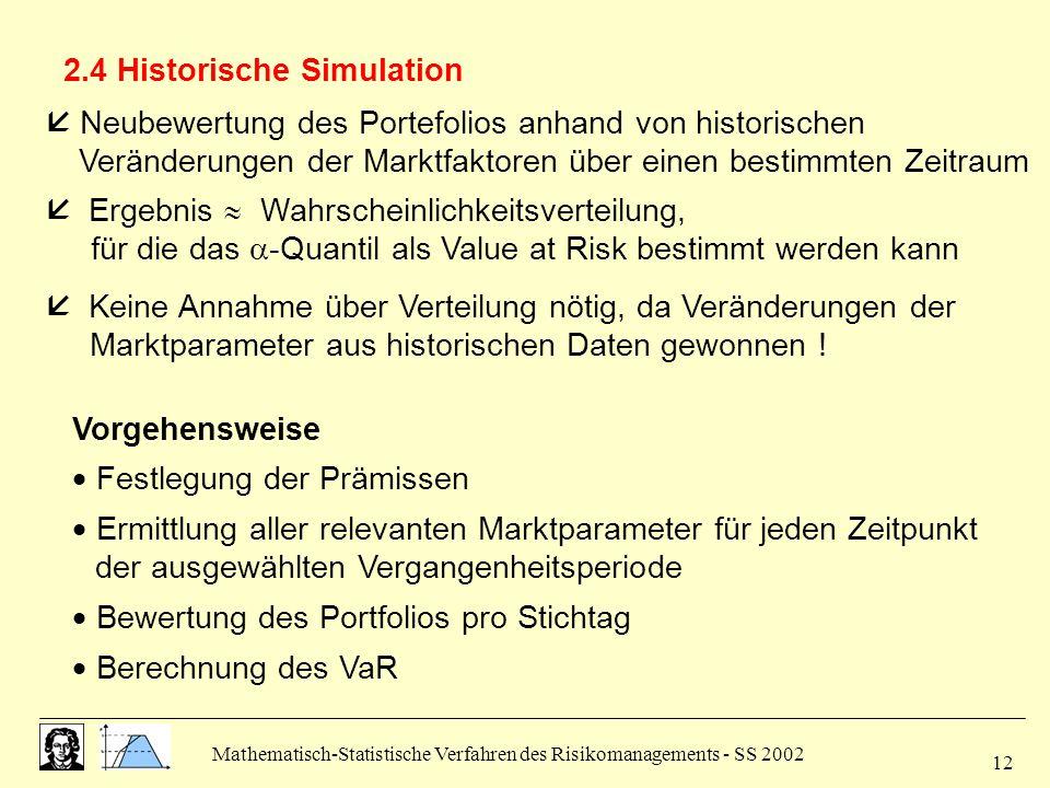 2.4 Historische Simulation