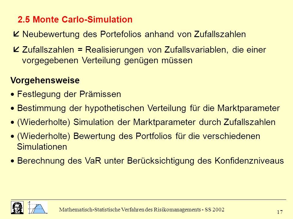 2.5 Monte Carlo-Simulation