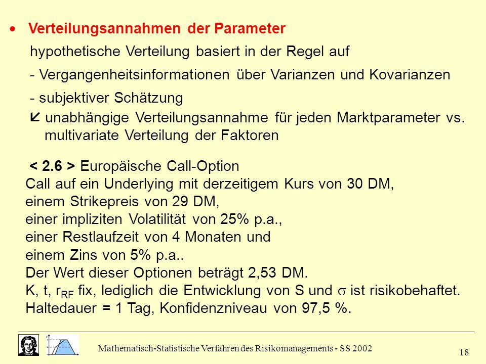  Verteilungsannahmen der Parameter