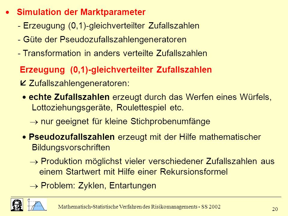  Simulation der Marktparameter