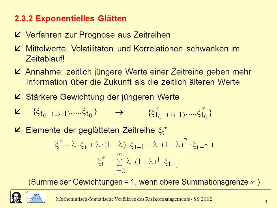 2.3.2 Exponentielles Glätten