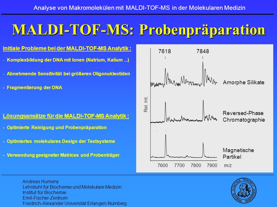 MALDI-TOF-MS: Probenpräparation
