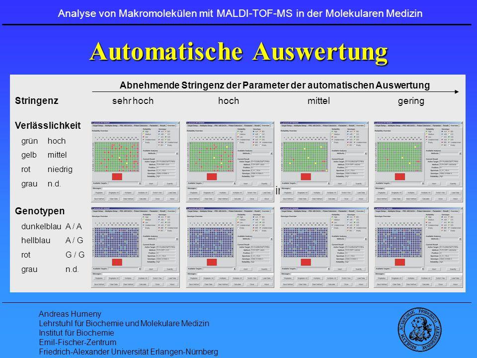 Automatische Auswertung