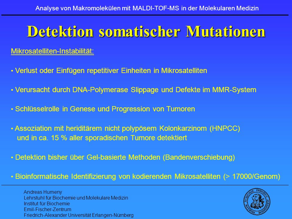 Detektion somatischer Mutationen