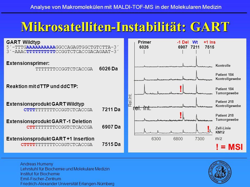 Mikrosatelliten-Instabilität: GART