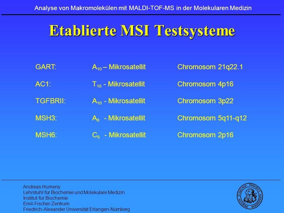 Etablierte MSI Testsysteme
