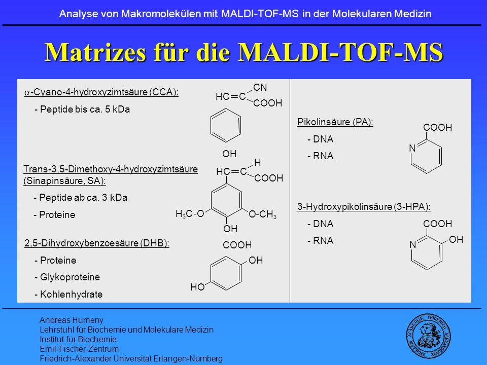 Matrizes für die MALDI-TOF-MS